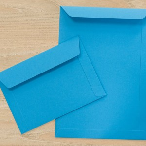 Bespoke Blue Heavyweight Envelope
